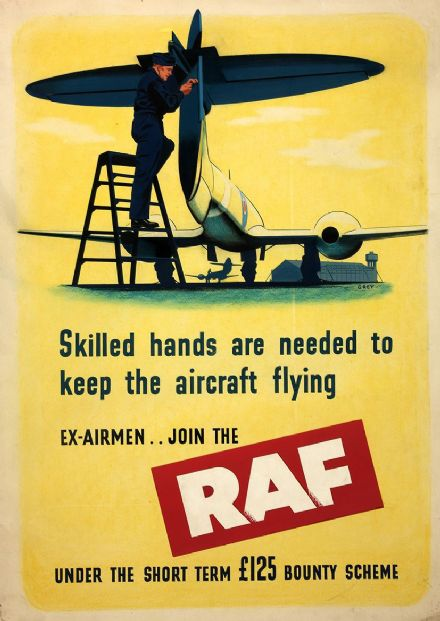 British RAF (Royal Air Force) Recruitment Print/Poster. Sizes: A4/A3/A2/A1 (00915)